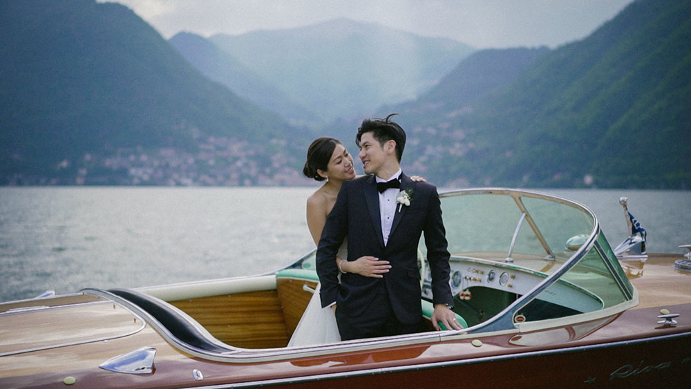 destination wedding videographer balbianello lake como italy