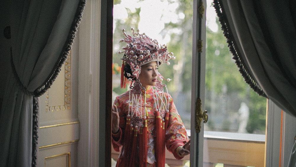 wedding videographer chinese tea ceremony dress