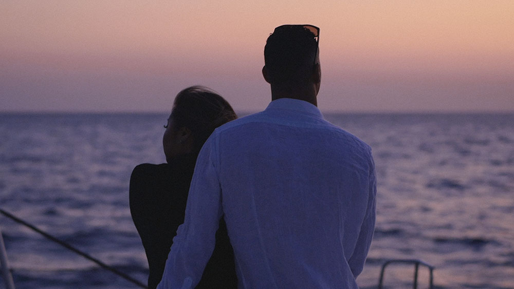 sunrise boat santorini mikonos greece engagement video