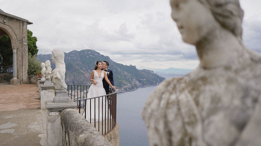 villa cimbrone ravello bride groom eventsbypaulina wedding videographer