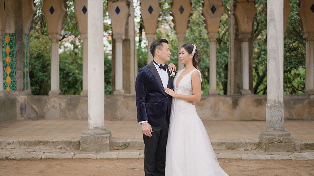 wedding videographer ravello amalfi coast italy villa cimbrone wedding planner