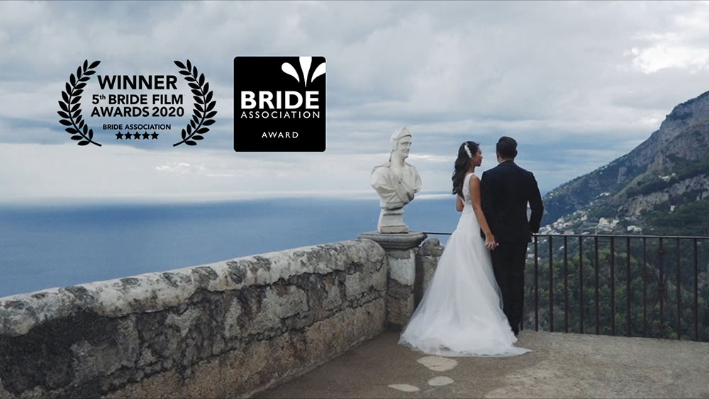 wedding videographer award bride association dolcevita amalfi ravello villa cimbrone
